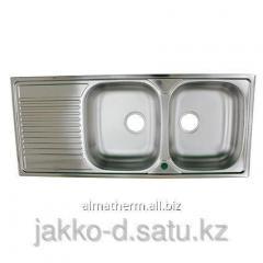 Мойка врезная гладкая левая (2) 0,6 mm 116x50 Donau
