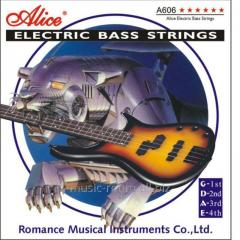Strings for a bass guitar of Alice A6065 of