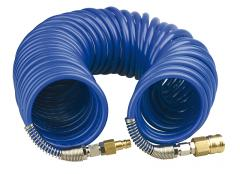 Hose with a fitting slow motion of spiral