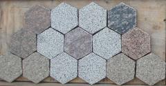 Paving slabs from granite (stone blocks) in Almaty