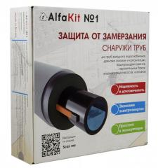 AlfaKit №1 16-2-2 Комплект греющего кабеля на трубу