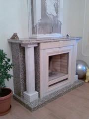 Fireplaces from a natural stone in Almaty