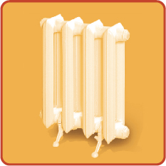 Pig-iron radiators of heating of MS-140