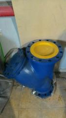 Filter mesh pig-iron flange Du of 250 Ru 16