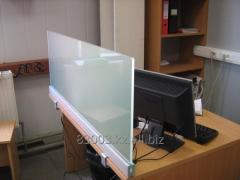 Desktop screens from glass