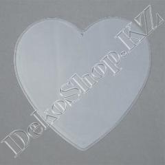 Прозрачная перегородка для елочной игрушки Сердце,