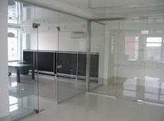 Glass partitions in office, shop, boutique, the