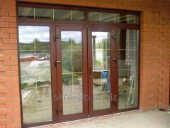 Entrance plastic doors