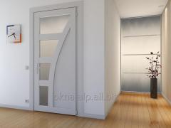 Reinforced-plastic interior doors