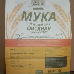 Wholegrain oatmeal on serum