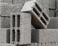 Blocks are peskobetonny, Kazakhstan,