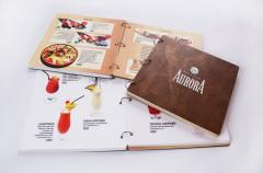 Design and production of the menu for restaurants