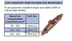 Cable couplings for 11 kV of SINGLE not armor the