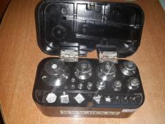 Set of second-hand weights