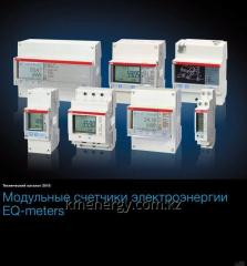 Electric power counters with installation on ABB
