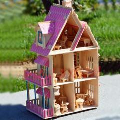 Кукольный домик Испанская вилла, расписной