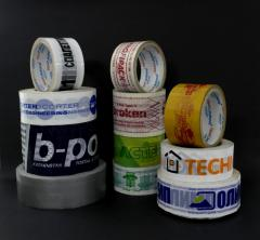 Adhesive tape with a log