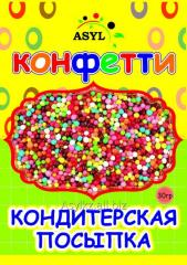 Confectionery topping of Confetti of 30 g