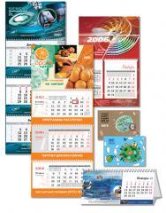 Календари, Календари в Алматы, Печать календарей в