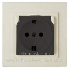 Nilson the Socket 10A with a cover beige