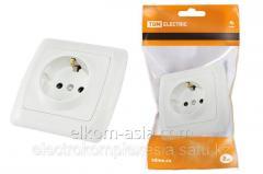 The TDM Socket 2P+Z 16A 250B it is white Onega