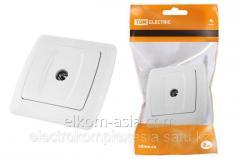 TDM TV Socket simple white Onega
