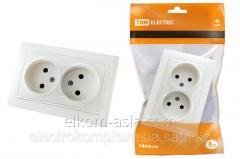 TDM Socket double 2P 10A 250B white Taimyr