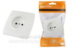 "TDM Socket 2P 10A 250B white ""Onega"