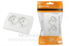 The TDM Socket sdv 2P 10A with zashch it is white