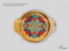 Поднос для холодной нарезки Ручная роспись диаметр