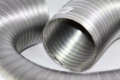 Gauffered pipes from stailness steel