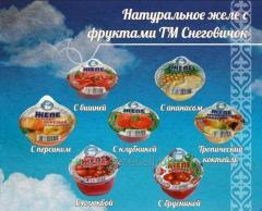 Желе фруктовое с ананасом ТЗ Снеговичок 150 гр./12