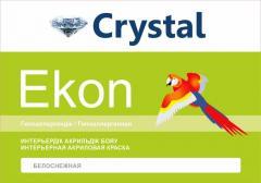 Snow-white Crystal Ekon interior paint of 5 kg