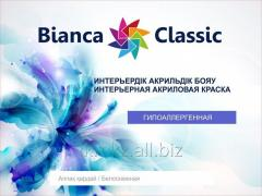 Paint for vnutrenny works of Bianca Classic of 5