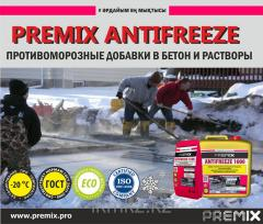 Противоморозная добавка к бетону не содержащая хлора Premix Antifreeze 1500 5 кг