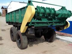 Spreader of the organic ROU-6 fertilizers
