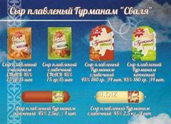 Сыр плавленый с чеснаком ТМ Сваля CNACK 45% 75 гр