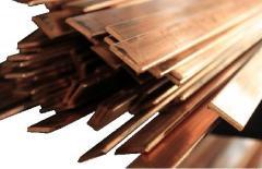 Tire copper, strip of 1.5x5 GOST 434-78, brand m1