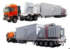 Mobile substation of Mobile Substations on wheels