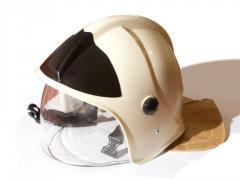 Helmet helmet of the fire rescuer of ShKPS