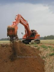 Excavators of Kraneks in Shymken