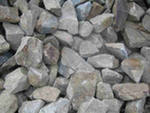 Rubble stone, crushed stone, elimination, stone