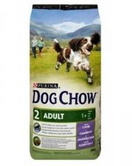 Дог Чау 14кг корм взрослой собаке, ягненок Dog