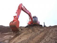 Excavators of Kraneks in Kostonaye