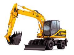 Excavators are wheel