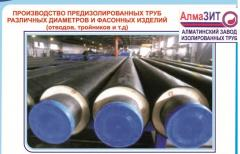 Pipes steel and shaped products with thermal