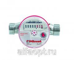 Счетчик воды СВХИ Миномесс, 40°C, DN 20, Qn 2,5, L 130 mm, с имп. (1L/Imp.), с присоед.