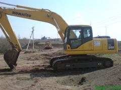 Rent of the Komatsu PC 220 excavator