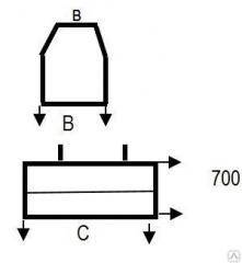 Блок фундамента средней части трубы Ф 1. 300