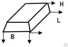 Plate for the tape base of FP 6 - 12 1180х600х300